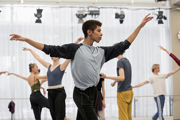 Alexander Skinner in rehearsal for Orpheus Alive. Photo by Karolina Kuras.