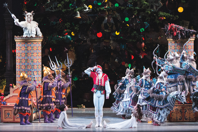 Christopher Gerty with students of Canada's National Ballet School in The Nutcracker