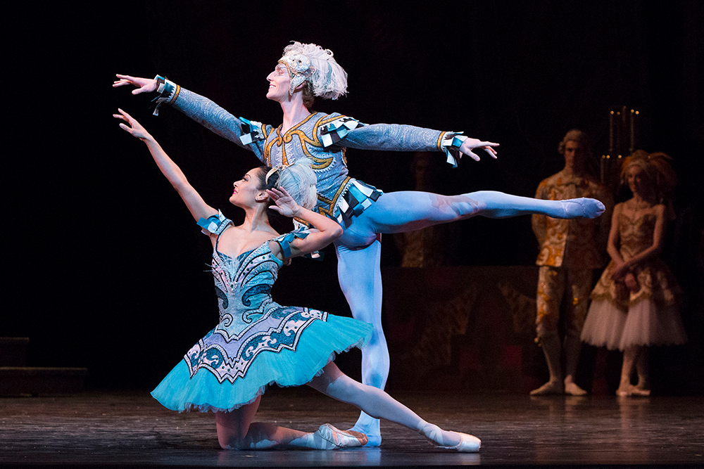 Tina Periera and Skylar Campbell in The Sleeping Beauty.